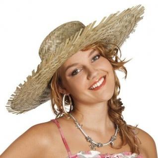 Strohhut Cuba Havanna - Hawaii Hut Mütze Kopfbedeckung Karneval Fasching Sommer