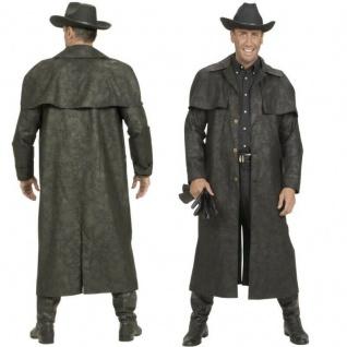 Staubmantel Duster Western-Mantel schwarz Cowboy Western Style - Wildlederoptik