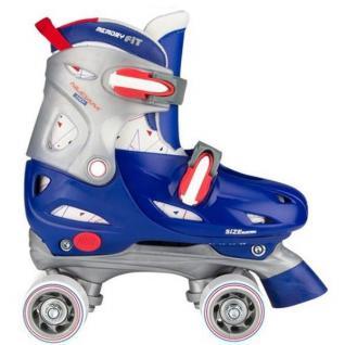 Kinder Rollschuhe Rollerskater Größe verstellbar 30 31 32 33 (blau) Skater #52SD