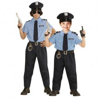 POLIZISTEN KOSTÜM & HUT KINDER Polizei Uniform Jungen Karneval Fasching # 0402