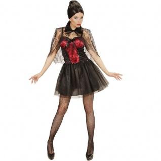 Vampiress Gothica Kostüm M 38/40 Damen Kleid Vampir Hexe Halloween Party 2342
