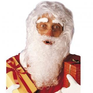 NIKOLAUS PERÜCKE Bart mit Augenbrauen - Weihnachtsmann Bart Haare (1518)
