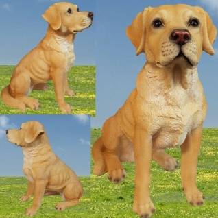 Figur Hund LABRADOR braun 34 cm Haus & Garten Deko 3042 lebensecht Tierfigur