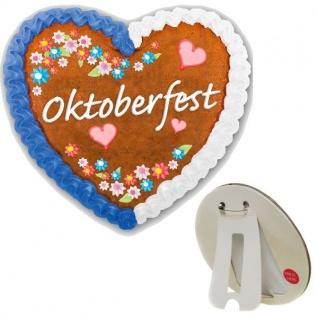 LED Button Oktoberfest Lebkuchenherz Anstecker Tischdeko Party Zubehör 975