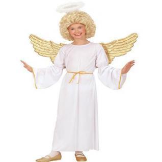 TOP ENGEL Kostüm Kinder Engelkostüm Gr. 128 für 5 - 7Jahre S02546