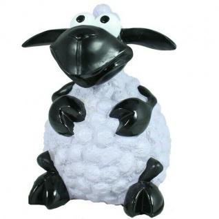 Schaf Molly sitzend mini - weiß - Lamm Deko Figur für Haus & Garten