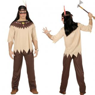 INDIANER 3 tlg. Herren Kostüm Jacke, Hose, Stirnband - Karneval Fasching