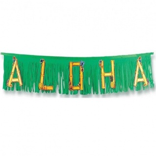 ALOHA Girlande 150cm Hawaii Strand Beach Motto Party Wanddeko #5054
