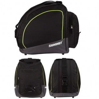 SKISCHUHTASCHE mit zwei Fächern -schwarz/gelb- SUMMIT Inliner Rollschuh Tasche