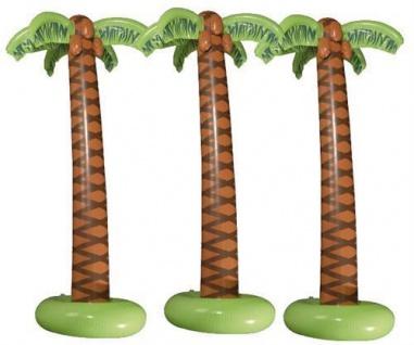 TOP 3 Stück Aufblasbare Palme ca.180 cm Hawai Party Strand Hawaii Sommer Deko
