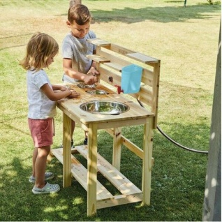 MATSCHKÜCHE aus Holz Kinder Küche für draussen Spielküche Garten Spielzeug