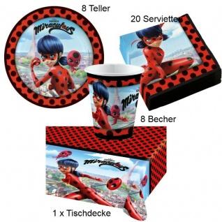 Miraculous Ladybug Kinder Geburtstag Party- Teller Becher Servietten Tischdecke