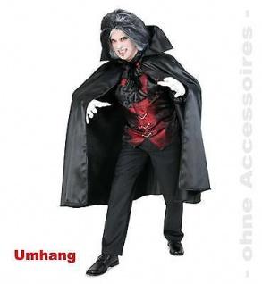 Kostüm Vampir Umhang Raven Halloween Karneval Fasching Gr. XXL