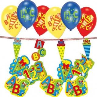 31 tlg Deko-Set Einschulung Schulanfang - Luftballons Girlande Tischdeko (Set B)