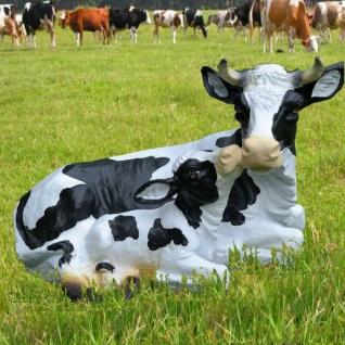 Kuh mit Kalb Kälbchen Deko Garten Figur Bauernhof Hofladen lebensecht #761