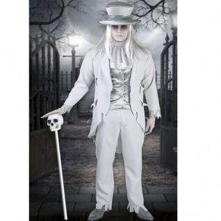 WEIßER GEIST BRÄUTIGAM Vampir Zombie 5 teiliges Kostüm Halloween