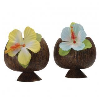 2 x HAWAIIBECHER halb Hawaii Kokosnuss Becher Cocktail Party