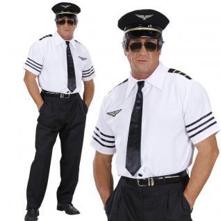 Pilot Flugkapitän Piloten Herren Kostüm - NEU Karneval Fasching