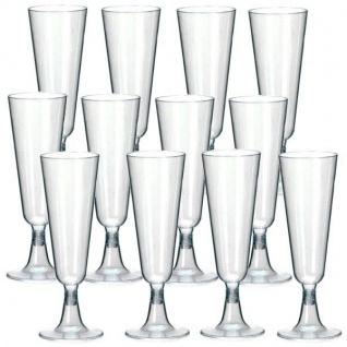 50 EINWEG SEKTGLÄSER Champagnergläser Sektglas 0, 1l Kunststoffglas klar