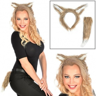 Tier Kostüm Zubehor Haarreif #11611 Ohren /& Schwanz Katze Dress up Set
