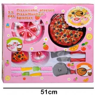 Großes Pizza und Kuchen Spielset 23 tlg. für Kinder Spielküche Kaufladen
