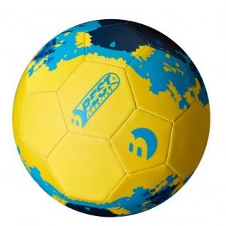Beachball Neopren Ball Fußball Gr. 5, Ø 21cm Strandball Wasserball gelb/blau 202