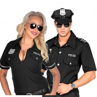 Polizistin Polizist Partner Kostüm für Damen und Herren Bluse / Hemd - Karneval