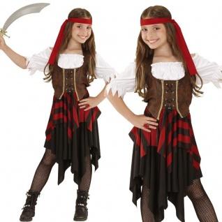 S05598 Kinder Kostüm Abenteuer Piratin Gr.158cm Mädchen Piratenkostüm - PREISHIT