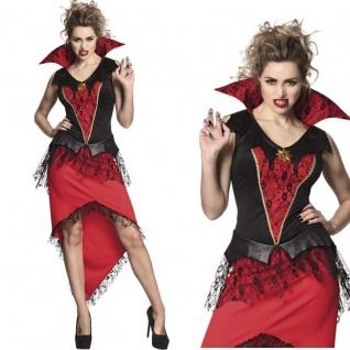 Sexy Mitternachtsherrin Vampirin Vampir Damen Kostüm Gr. S 36/38 Halloween #7914