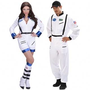 ASTRONAUT ASTRONAUTIN Partner Kostüm für Damen und Herren - Raumfahrer Space