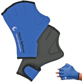 Aqua Sphere Aqua Swim Gloves Handpaddels Schwimm Handschuhe Gr. L (blau)