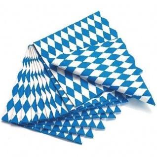 20/40/60/80/100 SERVIETTEN BAYERN RAUTE Oktoberfest Wiesn blau weiß