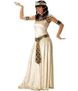 CLEOPATRA KOSTÜM Damen Ägyterin Kleid mit Zubehör Ägypten Fasching Theater