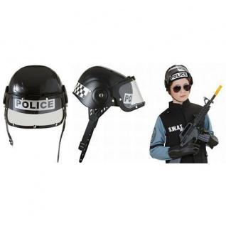 KINDER POLIZEI HELM Einsatzhelm Uniform Polizist Cop Karneval Fasching