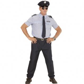 POLICE MAN POLZIST POLIZEI S (48) Herren Kostüm - JGA Stripper-Outfit #0403