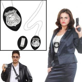 Polizeimarke mit Kette Halskette Abzeichen Polizei Dienstmarke Accessoire Cop