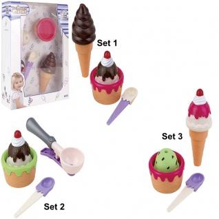 KLEINES EIS SET Kinder Spielzeug Kinderküche Kaufladen Lebensmittel 45063