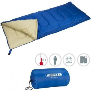 XXL Deckenschlafsack Schlafsack Outdoor Camping Abbey Camp® - Blau/Sand (21NK)