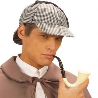 Sherlock Holmes HUT DEERSTALKER MIT PFEIFE Detektiv Kostüm Zubehör 9858s