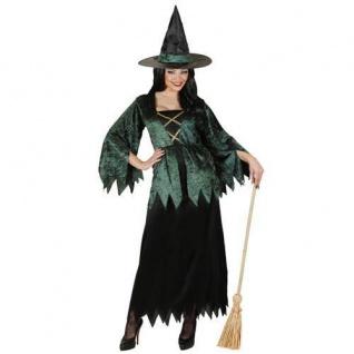 KOSTÜM HEXE Gr. S, M, L, XL Gothic Witch Damen Kleid Halloween Karneval