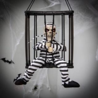 Gefangener Sensenmann mit Bewegung & Sound - Tod Skelett Happy Halloween Deko