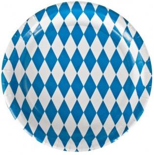 10/20/50/80/100 bayrische Party Teller Raute Einweg - Oktoberfest Bayern Deko