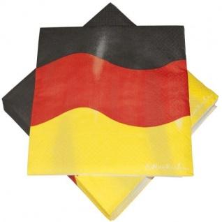 20x Servietten 3-lagig 33x33cm Deutschland Fan Artikel Dekoration WM+EM #243-34