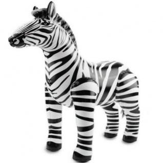 Aufblasbares Zebra Aufblastier Kinder Geburtstag Safari Dschungel Party Deko
