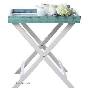 TABLETT MIT STÄNDER France Shabby Design Tisch Serviertablett Beistelltisch