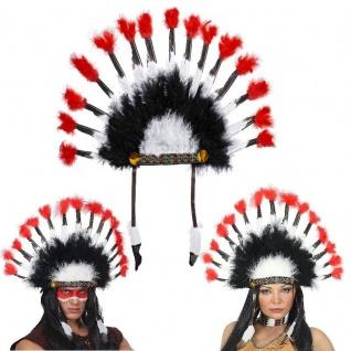TOP Indianer Kopfschmuck Federn Federschmuck Häuptling Kostüm Zubehör #33045