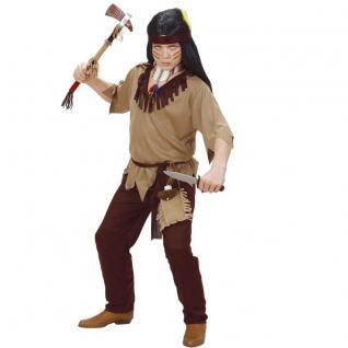 4tlg. Indianer Jungen Kinder Kostüm - Oberteil Hose Gürtel Stirnband 128 140 158
