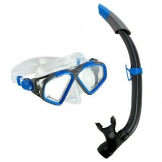 Aqua Lung Schnorchelset Combo Hawkeye Maske + Schnorchel blau/dunkelgrau Gr. M