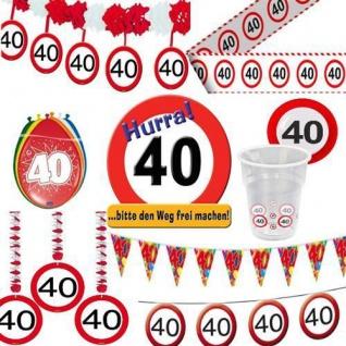 Geburtstagsdeko 40. Geburtstag Verkehrsschild Party Zubehör Dekoration Deko 40