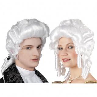 Edle weiße Barock Herren und Damen Perücke für Richter Baron Baroness Rokoko